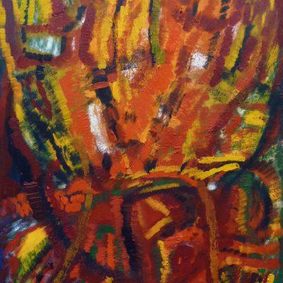 Regard d'enfant, Technique mixte, 70 x 100 cm