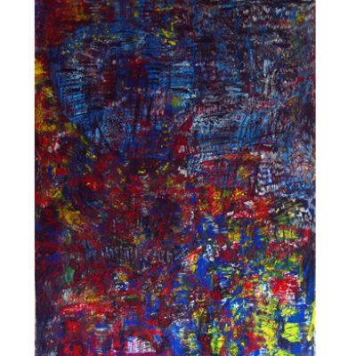 Informations, techniques mixtes sur toile 100x160cm 2008