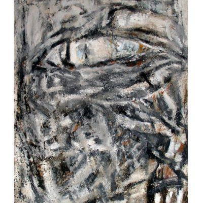 L'oeil, pavatex 70 x 100 cm, techniques mixtes sur bois, 2005