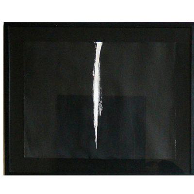 Lueur, encre de chine sous verre 82 X 67 cm, 2004