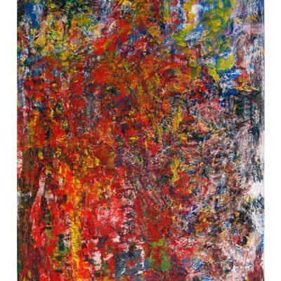 Mémoire, techniques mixtes sur toile 70x120cm, 2008