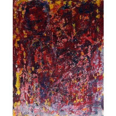 Regards, techniques mixtes sur toile 80x110cm 2008