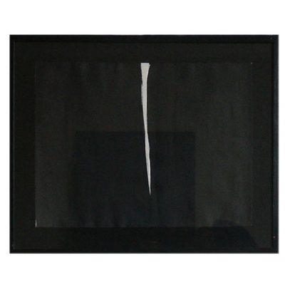 Veilleuse, encre de chine sous verre 82 x 67cm, 2004